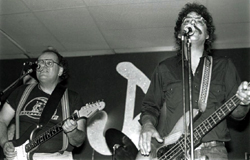 Nick Gravenites & Doug Kilmer @ JJ's Blues Cafe 1988 (Picture courtesy of Mike Somavilla)