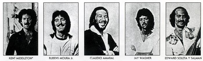 Viva Brasil 1980: Middleton, Moura, Amaral, Wagner, Soleta y Salman
