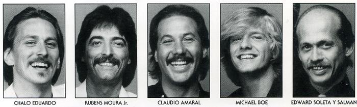 Viva Brasil 1983: Eduardo, Moura Jr., Amaral, Boe, Soleta Y Salman